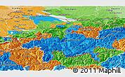 Political Panoramic Map of Ostschweiz