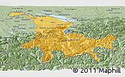 Savanna Style Panoramic Map of Ostschweiz