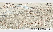 Shaded Relief Panoramic Map of Ostschweiz
