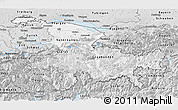 Silver Style Panoramic Map of Ostschweiz
