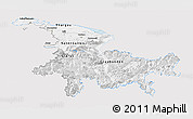 Silver Style Panoramic Map of Ostschweiz, single color outside