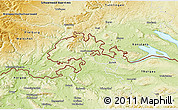 Physical 3D Map of Schaffhausen