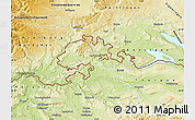 Physical Map of Schaffhausen