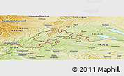 Physical Panoramic Map of Schaffhausen
