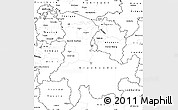 Blank Simple Map of Ostschweiz