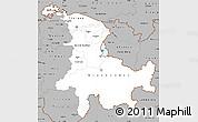 Gray Simple Map of Ostschweiz