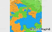 Political Simple Map of Ostschweiz