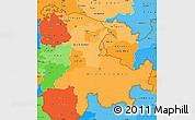 Political Shades Simple Map of Ostschweiz