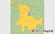 Savanna Style Simple Map of Ostschweiz
