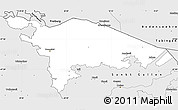 Silver Style Simple Map of Thurgau