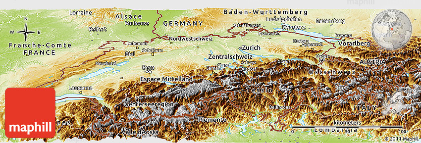 the major physical features of switzerland A landlocked country of towering mountains, deep alpine lakes, grassy valleys dotted with neat farms and small villages, and thriving cities that blend the old and the new, switzerland is the nexus of the diverse physical and cultural geography of western europe, renowned for both its natural beauty and its way of life.