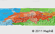 Political Shades Panoramic Map of Switzerland
