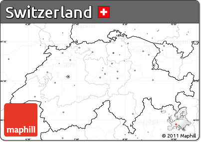 blank simple map of switzerland