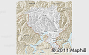 Classic Style 3D Map of Tessin