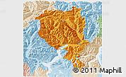 Political 3D Map of Tessin, lighten