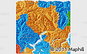 Political 3D Map of Tessin