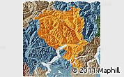 Political 3D Map of Tessin, semi-desaturated