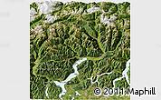 Satellite 3D Map of Tessin
