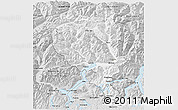 Silver Style 3D Map of Tessin
