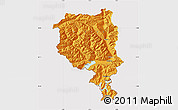 Political Map of Tessin, cropped outside