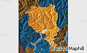Political Map of Tessin, darken