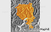 Political Map of Tessin, desaturated