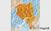Political Map of Tessin, lighten