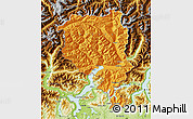 Political Map of Tessin, physical outside