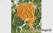 Political Map of Tessin, satellite outside