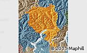 Political Map of Tessin, semi-desaturated
