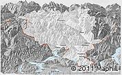 Gray Panoramic Map of Tessin