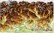 Physical Panoramic Map of Tessin
