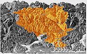 Political Panoramic Map of Tessin, desaturated
