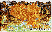 Political Panoramic Map of Tessin, physical outside