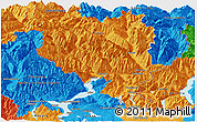 Political Panoramic Map of Tessin