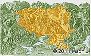 Savanna Style Panoramic Map of Tessin