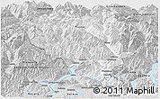 Silver Style Panoramic Map of Tessin