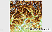 Physical 3D Map of Ticino