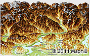 Physical Panoramic Map of Ticino