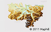 Physical 3D Map of Zentralschweiz, cropped outside