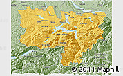 Savanna Style 3D Map of Zentralschweiz