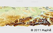 Physical Panoramic Map of Luzern