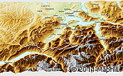 Physical 3D Map of Obwalden