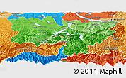 Political Shades Panoramic Map of Zentralschweiz