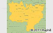 Savanna Style Simple Map of Zentralschweiz