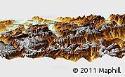 Physical Panoramic Map of Uri