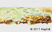 Physical Panoramic Map of Zug