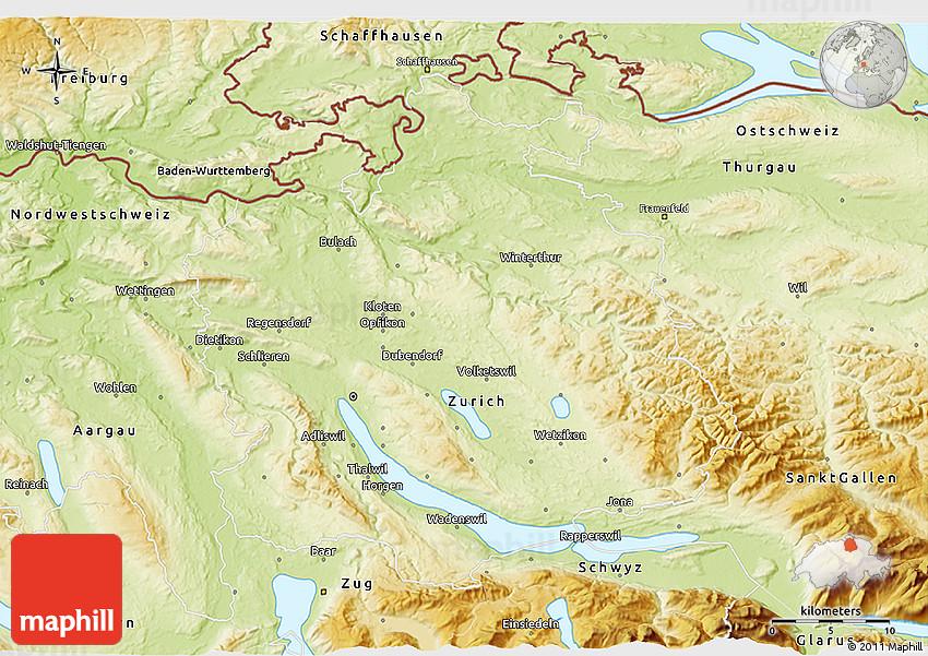 Physical 3D Map of Zrich