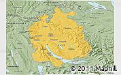 Savanna Style 3D Map of Zürich