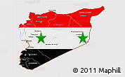 Flag 3D Map of Syria